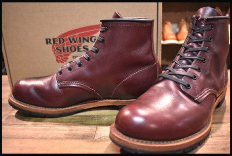 【8.5D 箱付 良品 15年】レッドウィング 9011 ベックマン ブーツ ブラックチェリー フェザーストーン プレーントゥ redwing HOPESMORE