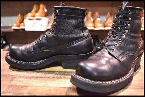 【8D 良品】WHITE'S ホワイツ スモークジャンパー ウォーターバッファロー ブーツ ブラック 黒 ビブラム430ダブル HOPESMORE