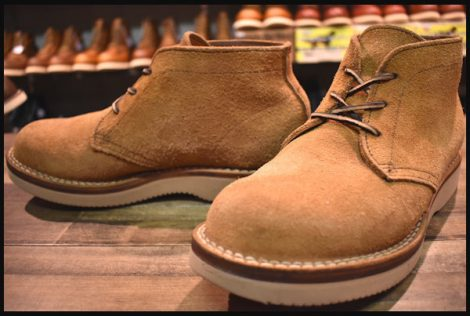 【7.5EEE 良品】VIBERG ヴァイバー チャッカ ブーツ 茶 ブラウン 短靴 スエード ラフアウト ビブラム2060 ヴィバーグ バイバーグ HOPESMORE