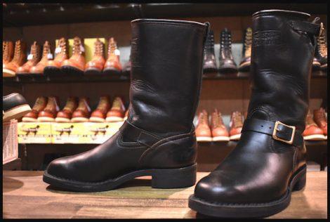 【9E 美品 07年】WESCO ウエスコ サイクルボス ブーツ 黒 ブラック ホースハイド 限定 エンジニア HOPESMORE