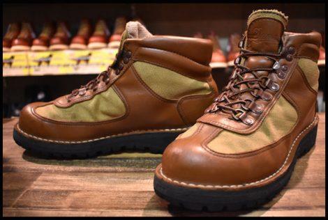 【9EE 良品 白タグ】Danner ダナーフェザーライト 20911X 20MM ブーツ GORE-TEX ゴアテックス ブラウン HOPESMORE