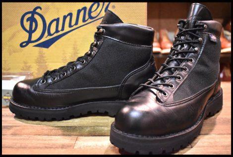 【8.5EE 箱付 良品 白タグ】Danner ダナーライト ブラック 31400X ブーツ GORE-TEX ゴアテックス 黒 HOPESMORE