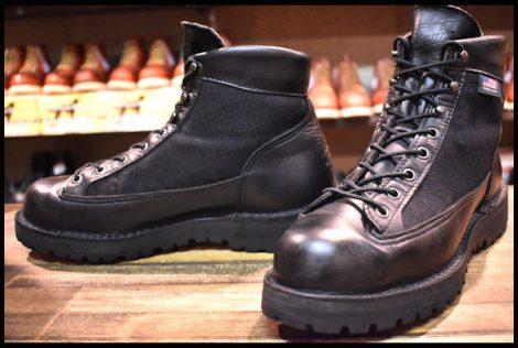 【8EE 良品 白タグ】Danner ダナーライト ブラック 31400X ブーツ GORE-TEX ゴアテックス 黒 HOPESMORE