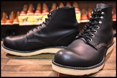 【10D 良品 09年】レッドウィング 8165 アイリッシュセッター ブーツ 黒 ブラック クローム プレーントゥ redwing HOPESMORE