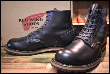 【9D 箱付 美品 18年】レッドウィング 9414 ベックマン ブーツ 黒 ブラック フェザーストーン プレーントゥ 9014 redwing HOPESMORE