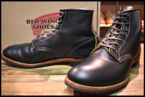 【10D 箱付 美品 19年】レッドウィング 9060 ベックマン ブーツ ブラッククローンダイク 黒 茶芯 フラットボックス redwing HOPESMORE