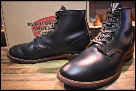 【11D 箱付 良品 18年】レッドウィング 9060 ベックマン ブーツ ブラッククローンダイク 黒 茶芯 フラットボックス redwing HOPESMORE