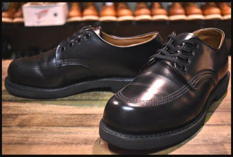 【6.5D 美品 13年】レッドウィング 9201 ガレージマン ブーツ シューズ 黒 ブラック シャパラル 短靴 ローカット モック redwing HOPESMORE