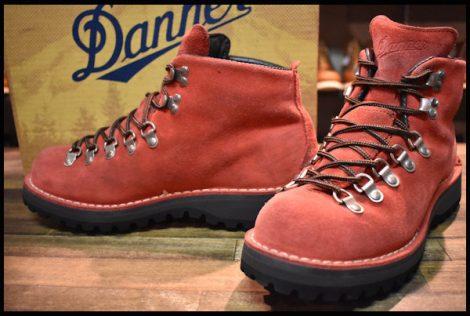 【7.5EE 箱付 良品 白タグ プロペラ別注】Danner ダナー マウンテンライト 10300X ブーツ 赤 レッド スエード HOPESMORE