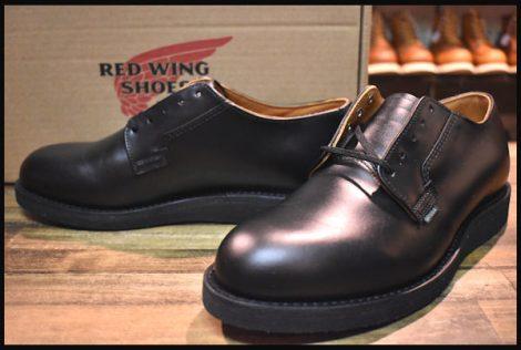 【8D 箱付 未使用 19年】レッドウィング 101 ポストマン シューズ ブーツ 黒 ブラック シャパラル redwing HOPESMORE