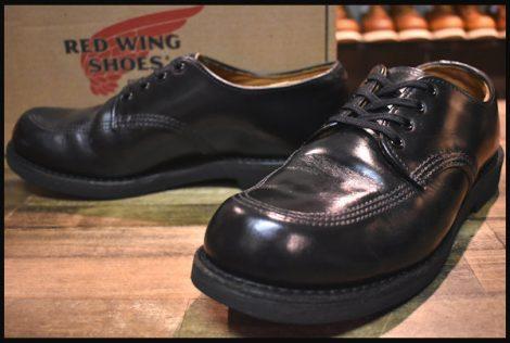 【8.5D 箱付 良品 11年】レッドウィング 9201 ガレージマン ブーツ シューズ 黒 ブラック シャパラル ローカット 短靴 redwing HOPESMORE