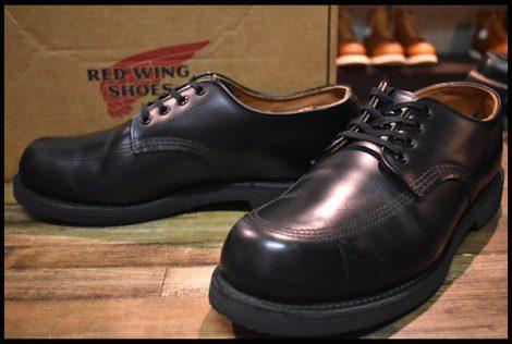 【11D 箱付 良品 14年】レッドウィング 9201 ガレージマン ブーツ シューズ 黒 ブラック シャパラル ローカット 短靴 redwing HOPESMORE