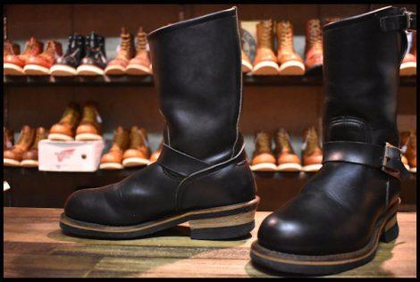 【5D 良品 PT91刺繍 98年】レッドウィング 2268 エンジニア ブーツ 黒 ブラック クローム スチールトゥ redwing HOPESMORE