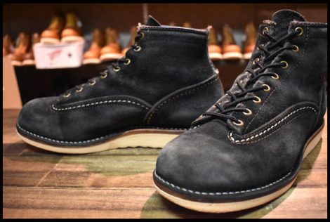 【8.5D 中古 05年】WESCO ウエスコ ジョブマスター ブーツ 6インチハイト LTT 黒ラフアウト ブラック ビブラム1010シングル HOPESMO