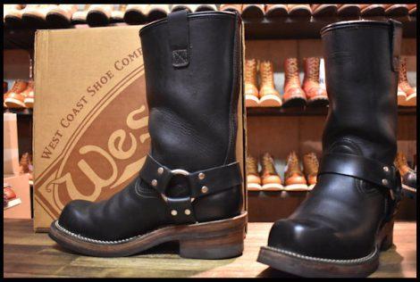 【7.5E 良品 02年】WESCO ウエスコ ハーネス ボス エンジニア ブーツ 黒 ブラック ビブラム700ダブル レザーライニング BOSS HOPESMORE