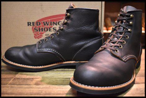 【9D 箱付 美品 19年】レッドウィング 3341 ブラックスミス ブーツ 黒 プレーリー プレーントゥ redwing HOPESMORE