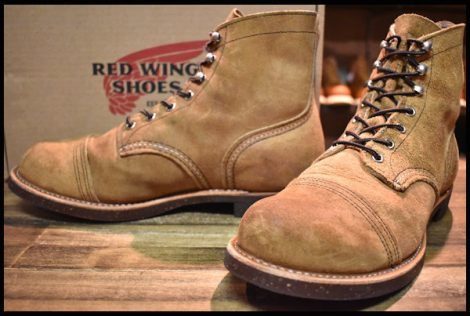 【9D 箱付 美品 18年】レッドウィング 8113 アイアンレンジ ブーツ 茶 ミュールスキナー ラフアウト キャップトゥ redwing HOPESMORE