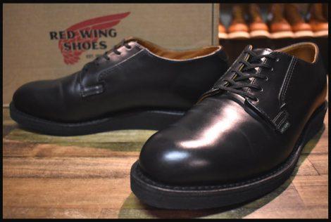 【8.5D 箱付 美品 19年】レッドウィング 101 ポストマン シューズ ブーツ 黒 ブラック シャパラル 短靴 redwing HOPESMORE