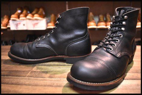 【8.5D 良品 10年】レッドウィング 8114 アイアンレンジ ブーツ 黒 ブラックハーネス キャップトゥ redwing HOPESMORE