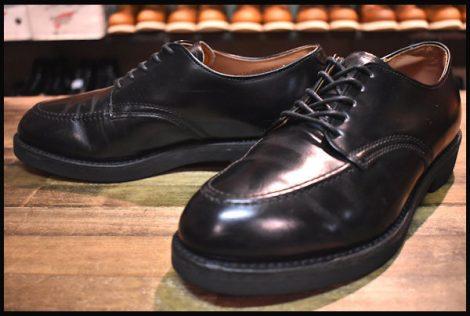 【7E 良品 旧羽タグ】レッドウィング 9335 オックスフォード シューズ ポストマン ブーツ ブラック シャパラル 黒 redwing HPOESMORE