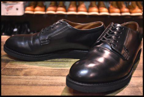 【10D 良品 19年】レッドウィング 101 ポストマン シューズ ブーツ 黒 ブラック シャパラル 短靴 redwing HOPESMORE