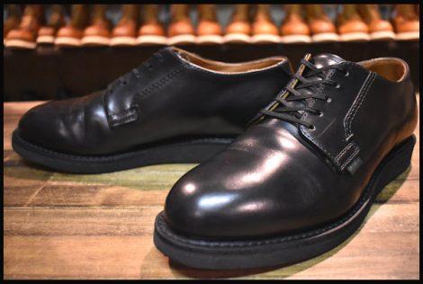 【7D 美品 18年】レッドウィング 101 ポストマン シューズ ブーツ 黒 ブラック シャパラル 短靴 redwing HOPESMORE