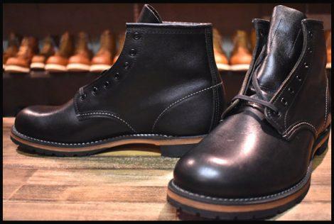 【9D 未使用 13年】レッドウィング 9014 ベックマン ブーツ 黒 ブラック フェザーストーン プレーントゥ redwing HOPESMORE
