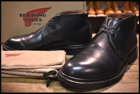 【8D 箱付 良品 16年】レッドウィング 9097 キャバリー チャッカ ブーツ 黒 ブラック フェザーストーン redwing HOPESMORE