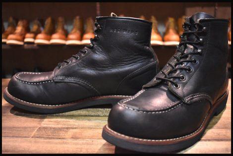 【9.5D 良品 12年】レッドウィング 9213 200コレクション アイリッシュセッター ブーツ ブラック メサ モックトゥ redwing HOPESMORE
