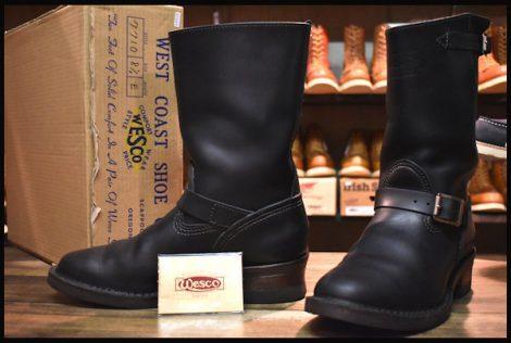 【8.5E 箱付 良品 10年 限定】WESCO ウエスコ ナローボス エンジニア ブーツ ブラック 黒 BOSS HOPESMORE
