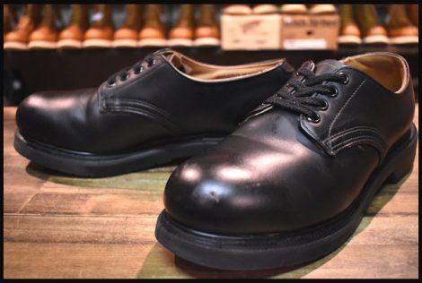 【9E 良品 PT91プリント 95年】レッドウィング 8260 オックスフォード ブーツ スチールトゥ ブラック 短靴 ポストマン redwing HOPESMORE