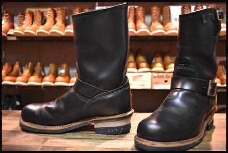 【8D 良品 旧シルエット 06年】レッドウィング 2268 エンジニア ブーツ 黒 ブラック クローム スチールトゥ redwing HOPESMORE