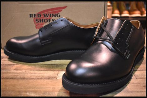 【9.5D 箱付 未使用 19年】レッドウィング 101 ポストマン シューズ ブーツ 黒 ブラック シャパラル redwing HOPESMORE