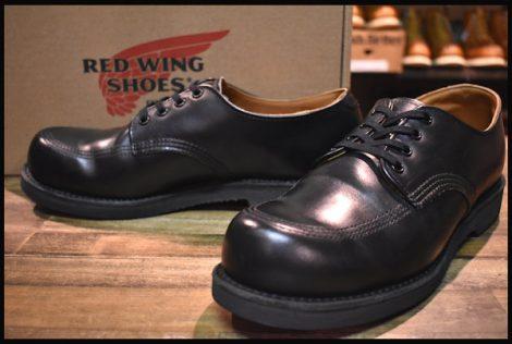 【8D 良品 14年】レッドウィング 9201 ガレージマン ブーツ シューズ 黒 ブラック シャパラル 短靴 ローカット モック redwing HOPESMORE