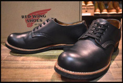【9D 箱付 良品 18年】レッドウィング 8054 フォアマン オックスフォード ブーツ 黒 ブラッククローム 短靴 redwing HOPESMORE