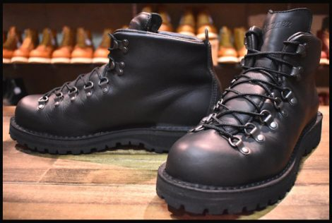 【10EE 良品 白タグ】Danner ダナー マウンテンライト ブーツ 31520 黒 ブラック ゴアテックス HOPESMORE