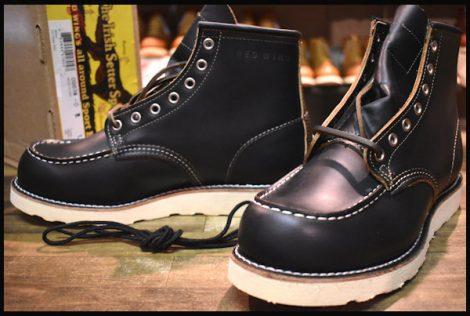 【8E 未使用 15年】レッドウィング 9874 クローンダイク アイリッシュセッター ブーツ 黒 ブラック モックトゥ redwing HOPESMORE