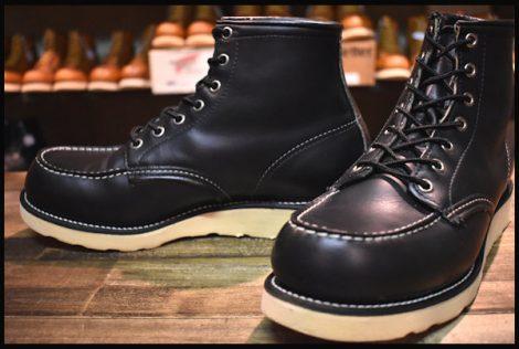 【8E 美品 犬タグ 99年】レッドウィング 8179 アイリッシュセッター ブーツ 黒 ブラック クローム モックトゥ redwing HOPESMORE