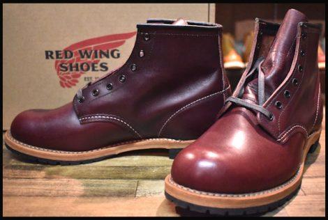 【8.5D 未使用 16年】レッドウィング 9011 ベックマン ブーツ ブラックチェリー フェザーストーン プレーントゥ redwing HOPESMORE