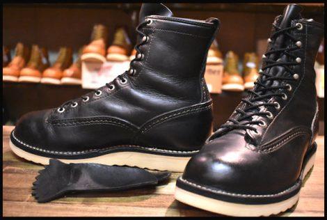 【8.5E 良品 11年】WESCO ウエスコ ジョブマスター LTT ブーツ 8インチハイト ブラック 黒 ビブラム1010 編み上げ HOPESMORE