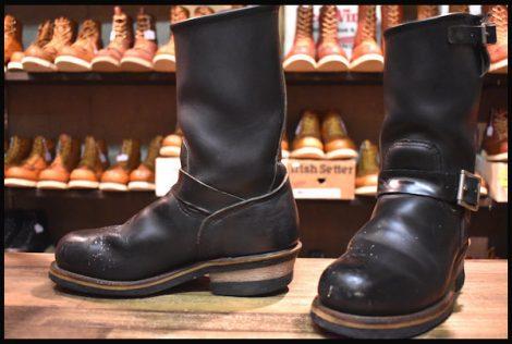 【5D 良品 PT99刺繍】レッドウィング 2268 エンジニア ブーツ 黒 ブラック クローム スチールトゥ redwing HOPESMORE