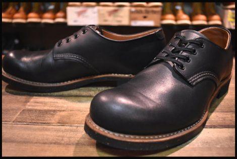 【9D 美品 14年】レッドウィング 8051 フォアマン オックスフォード ブーツ ブラックスター 黒 短靴 redwing HOPESMORE