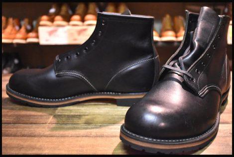 【10.5D 未使用 12年】レッドウィング 9014 ベックマン ブーツ 黒 ブラック フェザーストーン プレーントゥ redwing HOPESMORE