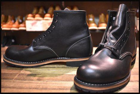 【8D 未使用 11年】レッドウィング 9014 ベックマン ブーツ 黒 ブラック フェザーストーン プレーントゥ redwing HOPESMORE