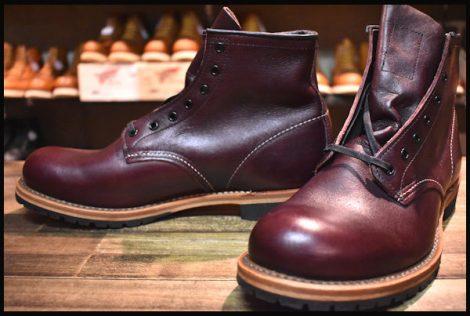 【9D 未使用 13年】レッドウィング 9011 ベックマン ブーツ ブラックチェリー フェザーストーン プレーントゥ redwing HOPESMORE
