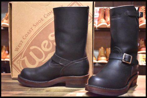 【7.5D 箱付 良品 17年】WESCO ウエスコ カスタムボス ブーツ 10インチハイト ブラック ビブラム700ブラウンダブルミッド BOSS HOPESMORE