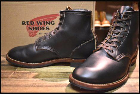 【8D 箱付 美品 18年】レッドウィング 9060 ベックマン ブーツ ブラッククローンダイク 黒 茶芯 フラットボックス redwing HOPESMORE