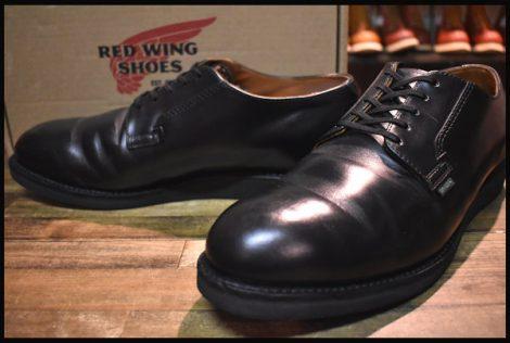 【11.5D 箱付 良品 18年】レッドウィング 101 ポストマン シューズ ブーツ 黒 ブラック シャパラル redwing HOPESMORE
