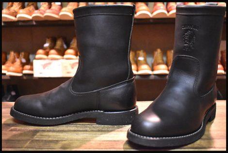 【7.5D 美品 黒タグ】Chippewa チペワ ウェリントン ブーツ 91092 黒 ブラック HOPESMORE