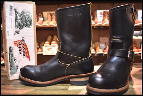 【9D 箱付 美品 14年】レッドウィング 9268 クローンダイク エンジニア ブーツ 黒 ブラック スチールトゥ redwing HOPESMORE